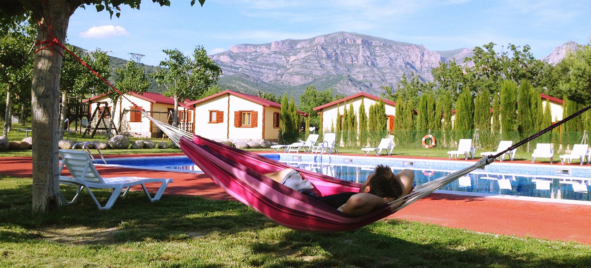 Camping in den spanischen Pyrenäen