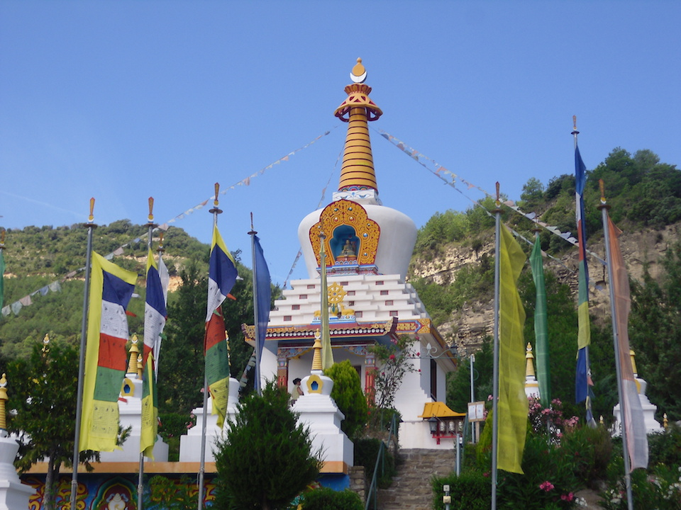 A spectacular buddhist temple located in the central Spanish Pyrenees.